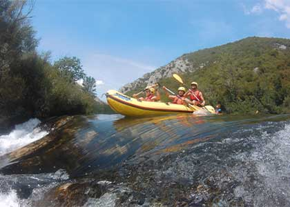 Rafting tour on Cetina river from Split by Mirabella Tours